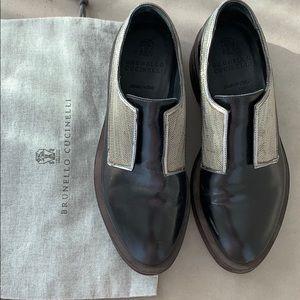 Brunello cucinelli moccasin black size 37/5 -7/5